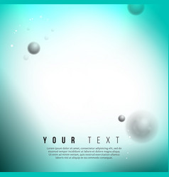 abstract chemical technology background with vector image vector image