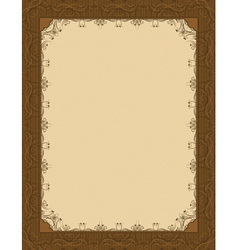 brown background with decorative ornate vector image vector image