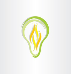 green eco low energy bulb icon vector image