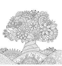 Ornate tree outline vector