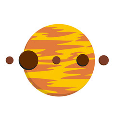 planet and moons icon isolated vector image