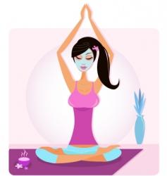 yoga asana vector image vector image