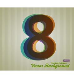 Color Transparency Symbol 8 vector image vector image