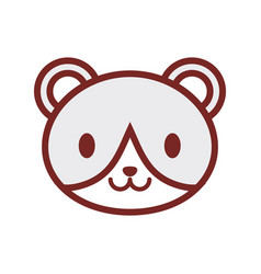 cute bear face image vector image