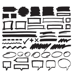 Marker Design Elements vector image vector image