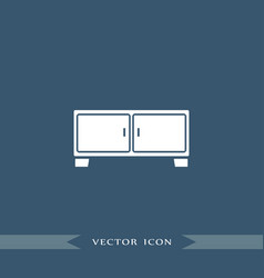 nightstand icon simple furniture sign vector image