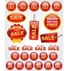 Set of Retail Sale Labels vector image vector image