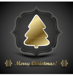 Christmas tree applique and bow background vector image