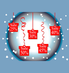 discount percentage discount price and sale vector image