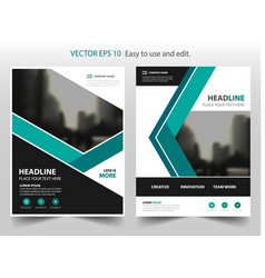 green annual report brochure design vector image vector image