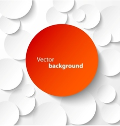 Red paper circles with drop shadows vector image