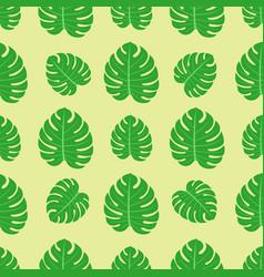 Tropical leaves summer jungle green palm leaf vector