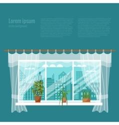 window flowers vector image