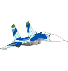 caricature of an jet fighter vector image