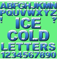Cold Letters vector image
