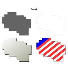 Crook Map Icon Set vector image vector image