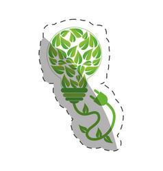 environment leaves shape bulb design vector image