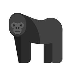 flat style of gorilla vector image