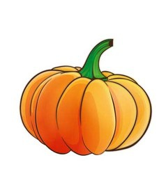 pumpkin 1 vector image