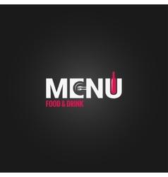 restaurant menu wine design background vector image