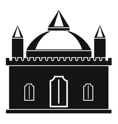 royal castle icon simple style vector image