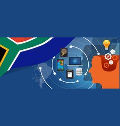 south africa it information technology digital vector image vector image