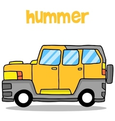 Transportation of hummer cartoon design vector image vector image