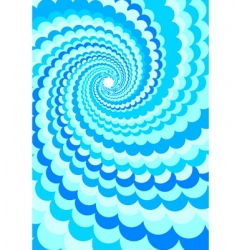 Abstract background water twirl vector