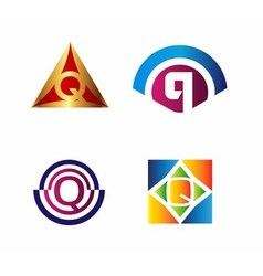 Abstract icons based on the vector