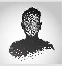 anonymous icon privacy concept human head vector image