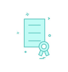award document file prize ribbon icon design vector image