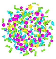 Backround with colourful sparlking confetti vector