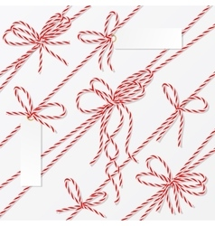 Bakers twine bows ribbons and labels vector image