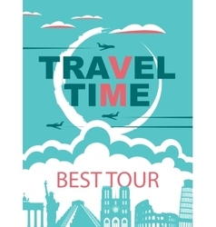 Banner for travel agencies vector