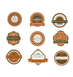 Bio and organic labels vector