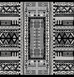 Black and white doodle african pattern with vector