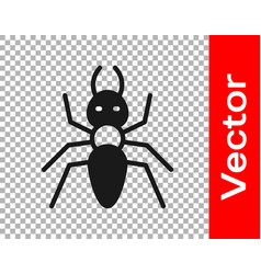 Black ant icon isolated on transparent background vector