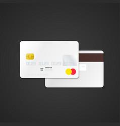 blank bank card mockup vector image