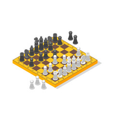 board game chess isometric view vector image