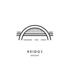 Bridge outline logo vector