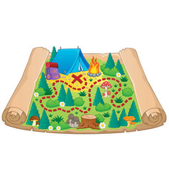 Camping theme map image 2 vector