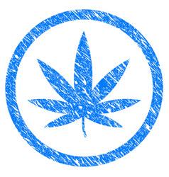 Cannabis grunge icon vector