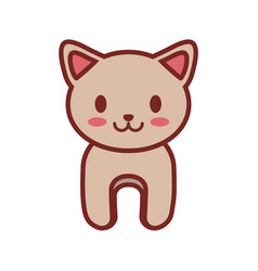 cartoon cat animal image vector image