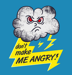 Cartoon character of evil cloud with a lightning vector