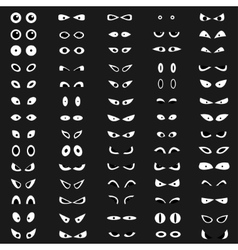 Cartoon eyes collection vector image