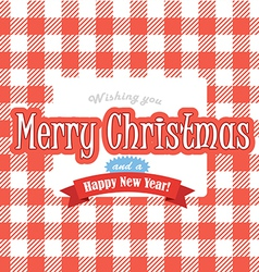 Christmas greeting red card vector image