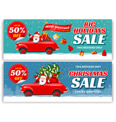 Christmas sale banners sat vector