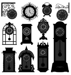 clock time antique vintage ancient classic old vector image