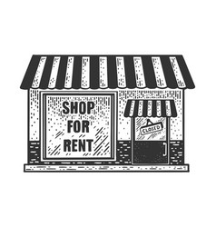Closed shop for rent sketch vector