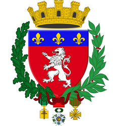 Coat of arms of lyon in auvergne-rhone-alpes vector